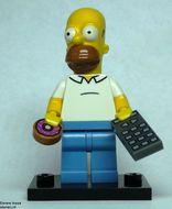 colsim-1 Homer Simpson, met telefoon, donut en standaard NIEUW *0M0000