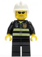 cty0167G Brandweerman met witte helm, zonnebril gebruikt *0M0000