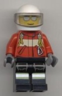 cty0349G Brandweerman Piloot rood jack witte helm gebruikt *0M0000