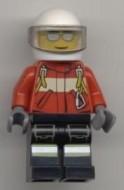 cty0349G Brandweerman Piloot rood jack witte helm gebruikt loc