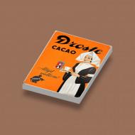 CUS0021 Tegel 2x3 Droste Cacao wit NIEUW loc 0A000