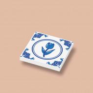 CUS3039 Tegel 2x2 Delfts Blauw - Tulp wit NIEUW *0A000
