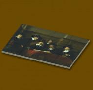 CUS4002 12 tegels 2x2 De Staalmeesters- Rembrandt van Rijn wit NIEUW *0A000