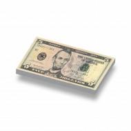 CUS7002 Tegel 1x2 Biljet 5 dollar geel *0A000
