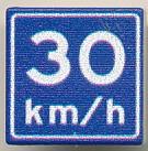 CUSE8192 Tegel MET CLIP Adviessnelheid 30 km/u *0A000