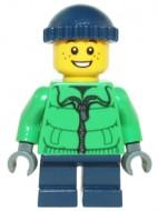 hol065 MINIPROMO Jongen, winterjas, donkerblauwe cap NIEUW *0M0000