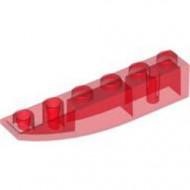 LEGO 42023-17 Omgekeerde dakpan 6x1 rond transparant rood NIEUW *1L0004160413