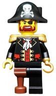 pi081G Kapitein Zwartbaard, ronde hoed met doodshoofd, houten been gebruikt loc