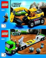 Set 4203 BOUWBESCHRIJVING- Excavator Transport (2) Auto gebruikt loc