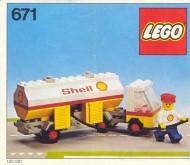 Set 671 BOUWBESCHRIJVING Tankauto SHELL gebruikt loc LOC M1