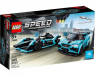 Set 76898-GB Formula E Panasoic Jaguar Racing GEN2 Car & Jaguar I-Pace e Trophy gebruikt deels gebouwd *B036
