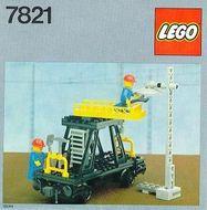 Set 7821 BOUWBESCHRIJVING-  Overhead Gantry and Lighting Maintenance Wagon  gebruikt loc