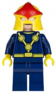 sh051 Batman- Donkerblauwgrijs pak, zwarte handen, cape NIEUW loc