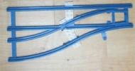 sw12vleft-7G Trein, Rails 12V wissel links blauw gebruikt *