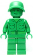 toy001G TOY STORY- Green Armour Man gebruikt *0M0000