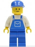 trn026G Wit hemd, blauwe overall- blauwe benen- blauwe cap gebruikt loc
