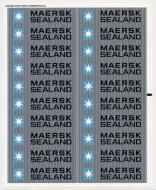 10152stk02 STICKER: Maersk schip NIEUW *0S0000
