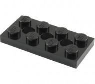 3709b-11 Technic, Plaat 2x4 met gaten Zwart NIEUW loc