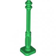 11062-6 Lantaarnpaal (Alleen paal) 4 ribbels voet groen NIEUW *5D0000
