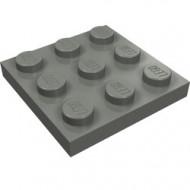 11212-85 Platte plaat 3x3 grijs, donker (blauwachtig) NIEUW *5K0000