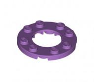 11833-157 Platte plaat 4x4 rond met 2X2 gat in midden lavender, midden NIEUW loc