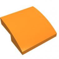 15068-4G Dakpan rond 2x2x2/3 geen noppen afgerond oranje gebruikt *1L278