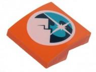 15068pb140-4 Dakpan rond 2x2x2/3 geen noppen Arctic Expedition logo oranje NIEUW *1L10-2