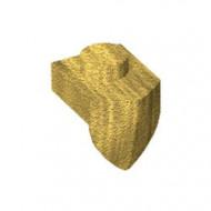 15070-115 Platte plaat 1x1 met tandVERICaal goud, parel NIEUW *1L0000