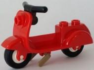 15396c02-5 Scooter parelgouden standaard en lichtblauwgrijs stuur rood NIEUW *5K000