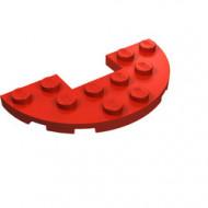 18646-5 Platte plaat 3x6 halfrond met 1x2 inkeping rood NIEUW *5D0000