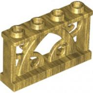 19121-115 Hek 1x4 met ornamenten goud, parel NIEUW *5D000