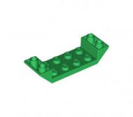 22889-6 Omgekeerde dakpan 45 graden 2x6 dubbel met 2x4 uitsnede groen NIEUW *1B000