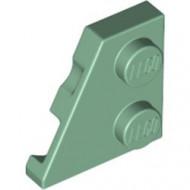 24299-48 Wig plaat 2x2 links groen, zandkleurig NIEUW *1L221+2