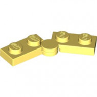 2429c01-103 Scharnierplaat 1x4 compleet (horizontaal 2 x 1x2) (loc 01-09) geel, lichthelder NIEUW *1L0000