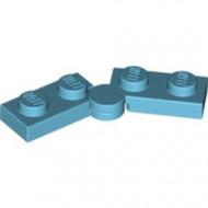 2429c01-156 Scharnierplaat 1x4 compleet (horizontaal 2 x 1x2) (loc 01-09) blauw, middenazuur NIEUW *1L300