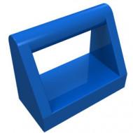 2432-7 Tegel 1x2 met hendel bovenop blauw NIEUW *1L0000