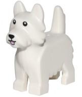 26078pb001 Hond terriër met zwarte ogen en roze tong wit NIEUW *0D000