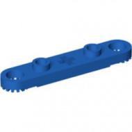 2711-7 Technic, Plaat 1x5 met gaten en centraal asgat blauw NIEUW *0D012