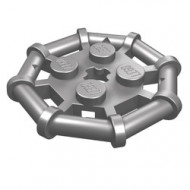 30033-95 Platte plaat 2x2 met 8-kantig frame Zilver- mat (NIEUW)