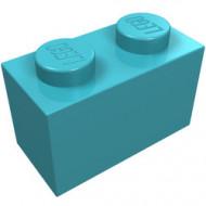 3004-156 Steen 1x2 blauw, middenazuur NIEUW *1L1-4