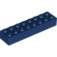 3007-63G Steen 2x8 blauw, donker gebruikt *5K0000
