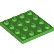 3031-36 Platte plaat 4x4 groen, helder NIEUW *5K0000