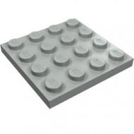 3031-9 Platte plaat 4x4 lichtgrijs (klassiek) NIEUW *5K0000