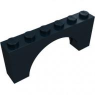 3307-11G Steen, boog 1x6x2 (niet-verhoogd zie ook 12939) zwart gebruikt *