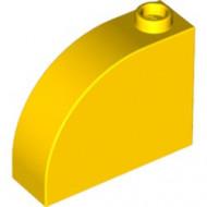 33243-3 Steen, 1x3x2 ronde top 90 graden massief geel NIEUW *1L0000