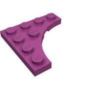 35044-71 Platte plaat 4x4 vierkant met ronde uitsnede magenta NIEUW *5D0000