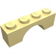 3659-33G Steen, boog 1x4x1 hoog geel, licht gebruikt *