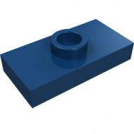 3794-63 Platte plaat 1x2 met 1 nop (loc 01-5) ZIE OOK 15573 blauw, donker NIEUW *1L233/11