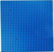 3811-7GB Basisplaat 32x32 klein verkleurd randje blauw gebruikt *3K000