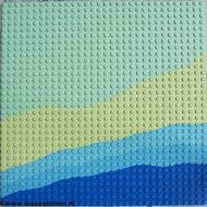 3811px1-38G Basisplaat 32x32 Strand Groen, licht gebruikt loc
